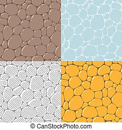 Seamless cobblestone or paving stone background - Seamless...