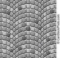 seamless cobblestone pavement pattern - illustration for the...