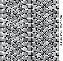 seamless cobblestone pavement pattern