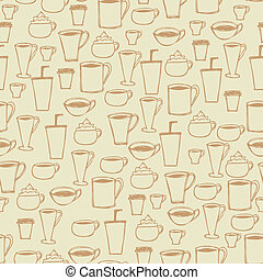 Seamless Coffee Cup Background