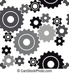 seamless cogwheel pattern - Seamless cogwheel pattern,...
