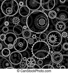 Seamless Cogwheels - Seamless both side Cogwheels pattern,...