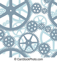 Seamless cogwheels pattern - Two layers seamless cogwheels...