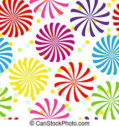 seamless, coloré, modèle spirale