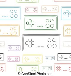 Seamless color contours of gamepads