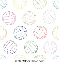 Seamless color contours of volleyballs