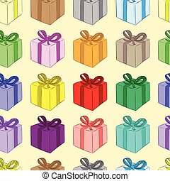 Seamless color gift boxes