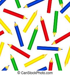 seamless, color, lápices, patrón