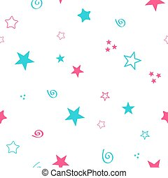 Seamless color pattern for your baby set on white background. Happy child vector