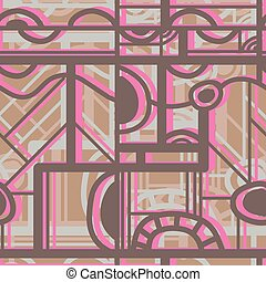 Seamless color pattern. Vector ill