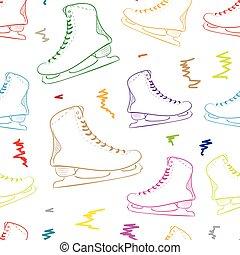 Seamless color skates contours