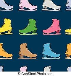 Seamless color skates