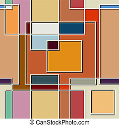 Seamless color texture of square elements