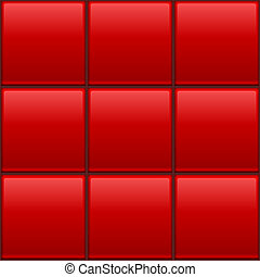 Seamless color wall tiles vector template.
