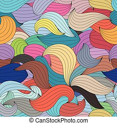 Seamless color waves abstract pattern.