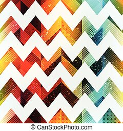 seamless, colorato, zigzag, grunge, effetto, modello
