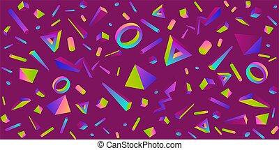 Seamless Colorful Abstract Geometric Pattern Vector Illustration Background Art