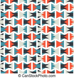 Seamless colorful abstract orange and blue geometric...