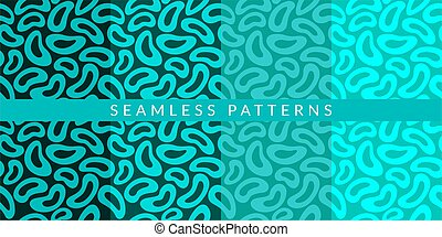 Seamless Colorful Abstract Pattern Vector Illustration Background Art