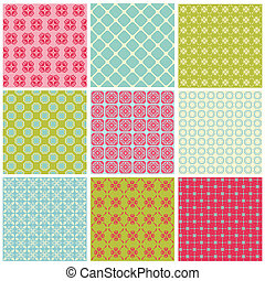 Seamless Colorful background Collection - Vintage Tile