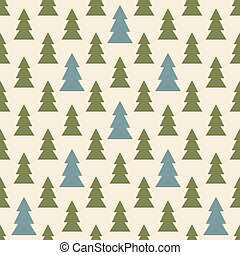 Seamless colorful Christmas and New Year pattern of firs -...
