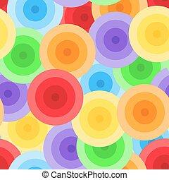 Seamless colorful circles pattern
