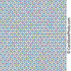 Seamless Colorful Cube Pattern