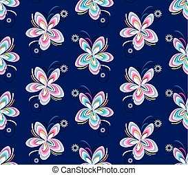 Seamless colorful fancy floral wallpaper