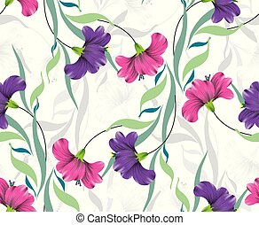 Seamless colorful fancy flower background