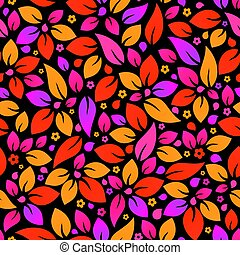 Seamless colorful flower background.