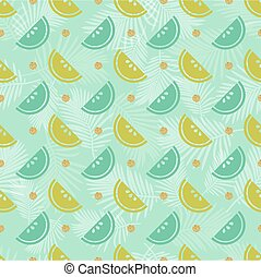 seamless colorful fruit with gold dot glitter pattern background.