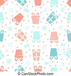 seamless colorful gifts pattern