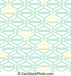 seamless colorful hanger pattern background