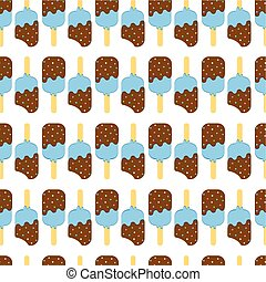 Seamless Colorful Ice Cream Pattern