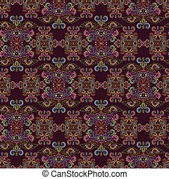 Seamless colorful indian pattern