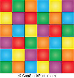 Seamless colorful mosaic tiles pattern. Vector