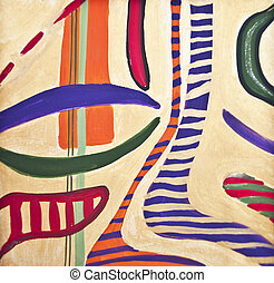Seamless colorful painted pattern background