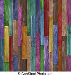 Seamless colorful painted wood texture background