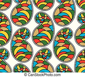 Seamless colorful paisley pattern