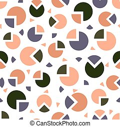 seamless colorful pattern background with confetti circle