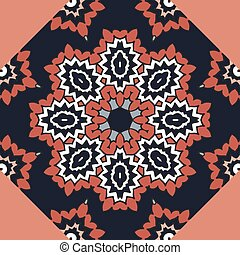 Seamless colorful pattern in oriental style. Ornamental background with mandala element. Persian, Arabic, Asian motifs