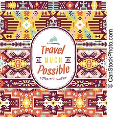 Seamless colorful pattern in tribal style
