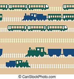 Seamless colorful pattern with train