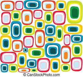 seamless colorful retro pattern