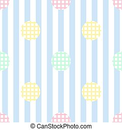 seamless colorful simple dot on blue stripe background