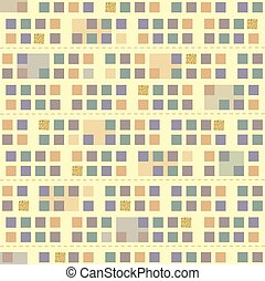 seamless colorful square with gold square glitter pattern background