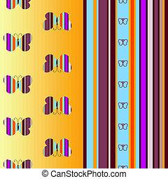 Seamless colorful striped pattern