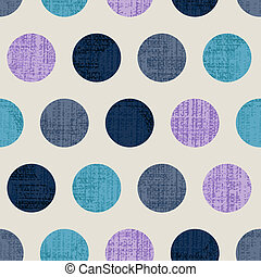 Seamless Colorful Textured Polka Dots