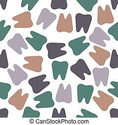 seamless, coloridos, dentes, padrão, fundo