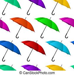 seamless, coloridos, guarda-chuvas, fundo